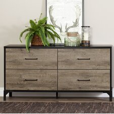 Valet 4 Drawer Double Dresser