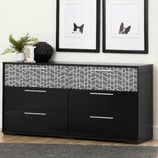 Mikka 6 Drawer Double Dresser