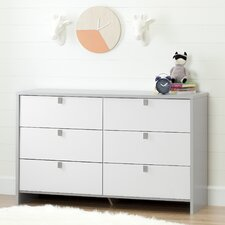 Cookie 6 Drawer Double Dresser