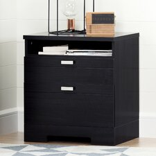 Reevo 2 Drawer Nightstand