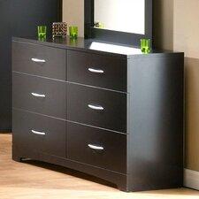 Back Bay 6 Drawer Double Dresser