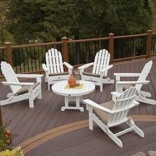 Cape Cod Folding 6 Piece Adirondack Seating Group