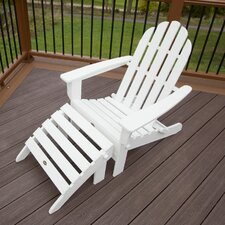 Cape Cod 2 Piece Folding Adirondack Seating Set