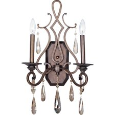Chic 2-Light Wall Sconce