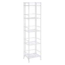 """5 Tier Folding Shelf 57.625"""" Accent Shelves Bookcase"""