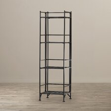 Designs2Go 4 Tier Folding Shelf 45'' Accent Shelves Bookcase
