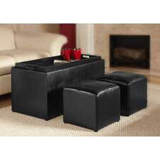Designs 4 Comfort 3 Piece Storage Bench & Ottoman Set