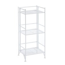 "Designs 2 Go 3 Tier Folding Metal Shelf 32.63"" Accent Shelves Bookcase"