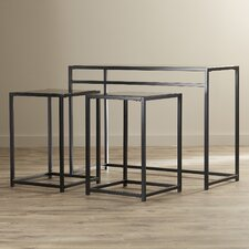 Designs2Go Classic Glass 3 Piece Console Table Set