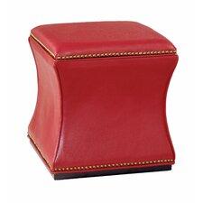 Hidden Treasures Leather Storage Ottoman