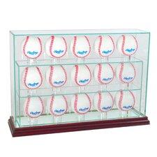 15 Baseball Upright Display Case
