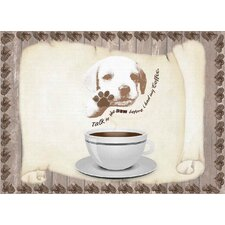 Coffee Talk to the Paw Foam Placemat (Set of 4)
