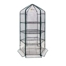 Ultra-Deluxe 4 Tier 1.5 Ft. W x 1.5 Ft. D Plastic Growing Rack Greenhouse