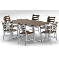 Kinzie Outdoor Modern 7 Piece Dining Set