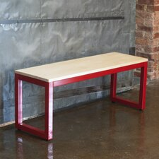 Loft Metal and Wood Entryway Bench