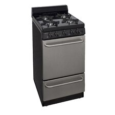 2.42 Cu. Ft. Gas Convection Range in Stainless Steel