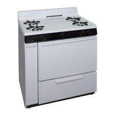 3.91 Cu. Ft. Gas Convection Range in White