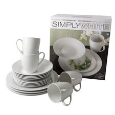 Simply White 16 Piece Dinnerware Set