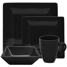 Nova 16 Piece Square Dinnerware Set