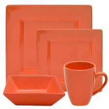 Nova 16 Piece Square Dinnerware Set