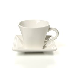 Whittier Square 8 oz. Flared Cup and Saucer (Set of 4)