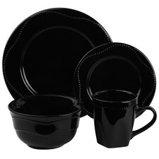 Nova Round Beaded 16 Piece Dinnerware Set