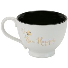 Bee Happy Footed Mug