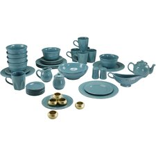 Nova Round Beaded 45 Piece Dinnerware Set