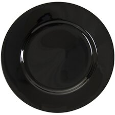 """Black Rim 12"""" Buffet / Charger Plate (Set of 6)"""