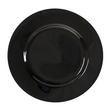 "Black Rim 9"" Lunch Plate (Set of 6)"