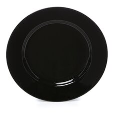 """Black Rim 6.75"""" Bread and Butter Plate (Set of 6)"""
