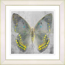 """Dusk Butterfly - Yellow"" by Zhee Singer Framed Fine Art Giclee Painting Print"