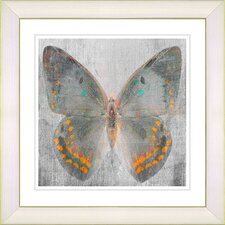 """Dusk Butterfly - Orange"" by Zhee Singer Framed Fine Art Giclee Painting Print"