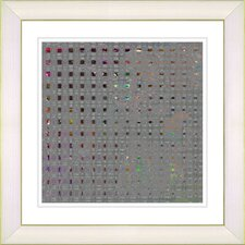 Grey Metal Weave by Zhee Singer Framed Graphic Art