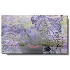 """Purple Mist Leaves"" Gallery Wrapped by Zhee Singer Painting Print on Canvas"