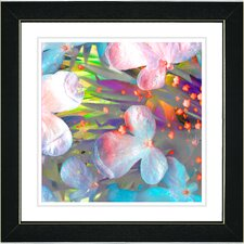 """Pastel Party Flower"" by Zhee Singer Framed Fine Art Giclee Painting Print"