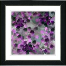 """Popcorn Floral - Purple"" by Zhee Singer Framed Fine Art Giclee Painting Print"