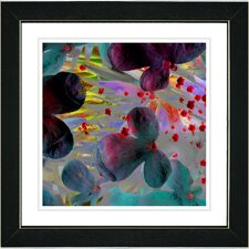 """Party Flower"" by Zhee Singer Framed Fine Art Giclee Painting Print"