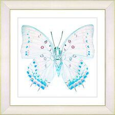 """White Butterfly"" by Zhee Singer Framed Fine Art Giclee Painting Print"