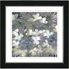 """Snowdrop Bells Flowers"" by Zhee Singer Framed Fine Art Giclee Painting Print"
