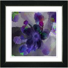 """Purple Blue Floral Study"" by Zhee Singer Framed Fine Art Giclee Painting Print"