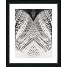 """White Feather"" by Zhee Singer Framed Fine Art Giclee Painting Print"