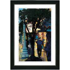 """""""Evening Walk"""" by Zhee Singer Framed Painting Print"""