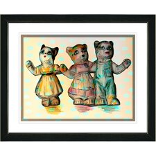 """""""Cat Family"""" Framed Art"""