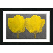 """Twin Tulips Canvas"" by Zhee Singer Painting Print on Canvas"