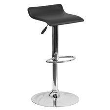 Contemporary Adjustable Height Swivel Bar Stool with Cushion (Set of 4)