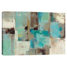 Teal & Aqua Reflections #2 Canvas Art by Silvia Vassileva