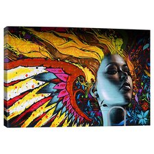 Burning Graffiti Canvas Art