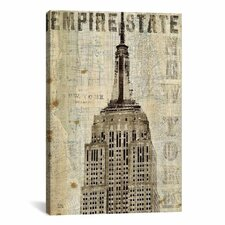 Vintage NY Empire State Building Canvas Art By Michael Mullan