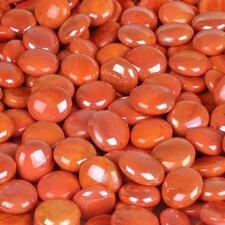 5 lbs of  Glass Gems in Opal Orange